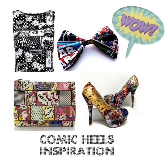 comic heels inspiration